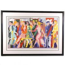 """The Crowd"" by Giancarlo Impiglia Serigraph on Arches Paper 134/300"