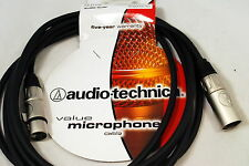 Audio Technica 10 feet (3 meter) XLRM-XLRF Microphone XLR cable PVC PRO New