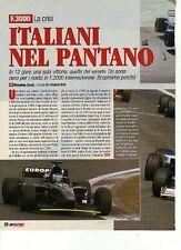 Z98 Ritaglio Clipping 2001 Formula 3000 la crisi degli Italiani Pantano