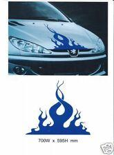 """CAR BONNET FLAME"" GRAPHICS DECALS STICKERS 012"