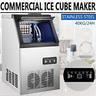 Commercial Ice Maker Stainless Steel Built-in Ice Cube Machine Undercounter 90LB photo