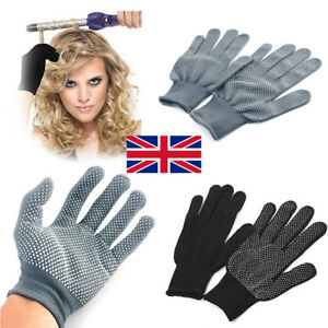 1 Pair Heat Resistant Gloves Curling Protective Heat Proof for Hair Straightener