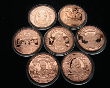 Motive von US Geldscheinen Copper Round 7 x 1 Oz Kupfer Medaillen
