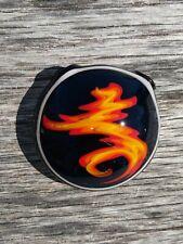 Black Fire Handmade Glass Pendant Focal Bead