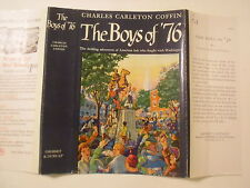 The Boys of '76, Charles Carleton Coffin, Dust Jacket Only