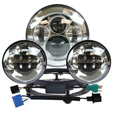 "7"" LED Projector Daymaker Headlight+Pair 4.5"" Passing Lights for Harley Touring"
