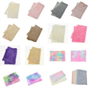 1Sheet Faux Fox Fur Fabric Soft Plush DIY Clothing Sewing Material Handmad Craft