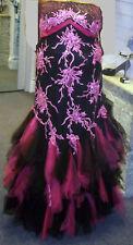 Manon Evening Wear Fuchsia & Black BNWT - UK 20 RRP £450