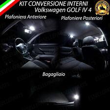 KIT LED INTERNI PER VW GOLF 4 IV PLAFONIERA ANT+POST+BAG CANBUS NO AVARIA LUCI