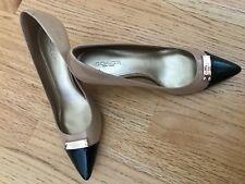 COACH Zan Tan black Patent Leather Heels Pumps Shoes 7