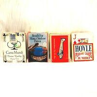 Vintage Advertising Souvenir Card Decks Standard Card Deck Lot Of 4 Used Decks