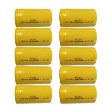 10 D Size 34615 NiCd Rechargeable Batteries 5000mAh 1.2V Flat top Battery PKCELL