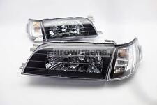 Toyota Corolla AE100 92-98 Crystal Black Headlights Set With Indicators Pair Set
