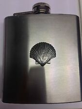 Sea Shell PP-G24 english pewter 6oz Stainless Steel Hip Flask