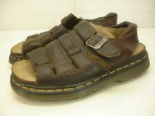 Men's UK 8 US 9 Dr Martens England Brown Leather Fisherman Sandals Air Wair DM's