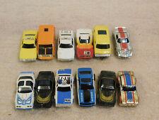Lot of 12 Aurora Afx Tyco Ho Slot Cars + Bonus Parts
