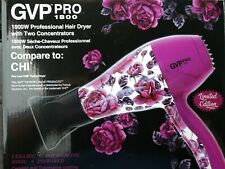 GVP PRO 1800 Limited Edition  2speed Quiet speed Motor Pink Hair Dryer
