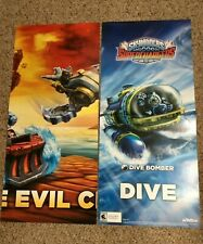 Lot of 14 New Unhung 2-Sided Skylanders Superchargers Dive Bomber Posters