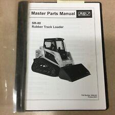 Asv Sr 80 Parts Manual Book Catalog List All Surface Track Loader Guide 2046 023
