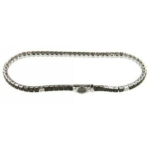 Tennis Bracelet Recarlo T39SE886/KX Diamonds Black 1,68 CT Man Woman 19 CM