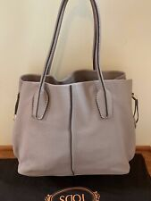 Auth Tod's D-styling Shopping Bag; Elephant Grey