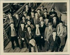 1940 Rescued Crew of Torpedoed British Ship SS Samaria  Press Photo