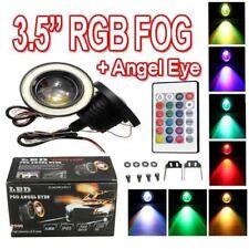 COPPIA 3.5 RGB LED COB AUTO Angel Eyes alogena lampada della luce ANTINEBBIA