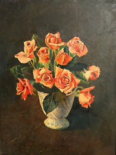 1990 Still Life with roses oil painting signed