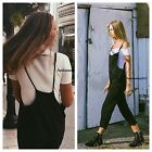 Last one! Brandy Melville black wash light weight stretchy Jade Overalls NWT S/M