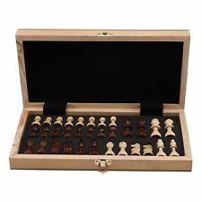 Schachspiel Figuren aus Olivenholz Neu Schach Backgammon edles 29*29CM