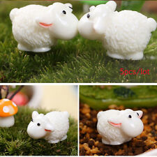 Sheep Animals Figurines Miniatures Home Garden Decor DIY Accessories 5Pcs/lot