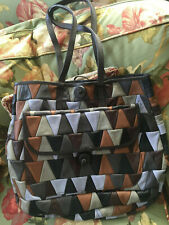 NEW Swatch shoulder Bag Recycled Leath Carmina Campus OOAK Ilaria Fendi PYRAMID