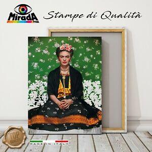 Bild Frida Kahlo On Bench Nickolas Muray Druck Leinwand Canvas Foto Blumen Grün