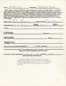 Charlie Simmer - NHL, Los Angeles Kings - Autographed 1984 Contract w PSA