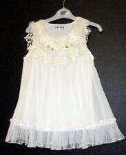 FOUGER USA GIRLS SZ. 4 NWT WHITE LACE AND RUFFLE DRESS