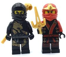 LEGO LOT OF 2 NINJAGO MINIFIGURES KAY & COLE NINJAS DX / ELEMENTAL ROBES