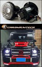1990-09 Mercedes W463 G-CLASS G-Wagen BLACK Projector Headlights w/ LED DRL LHD