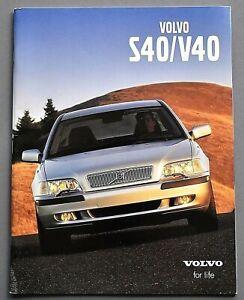ORIGINAL 2001 VOLVO S40 & V40 PRESTIGE U.S. SALES BROCHURE ~ 42 PAGES ~ 01VS40