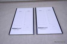 2 FISHERBRAND 12-587-10 20 PLACE MICROSCOPE CARDBOARD SLIDE TRAY STORAGE FOLDER