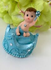 1-Baby Shower Favors Party Decoration Its A Baby Boy King Blue Crown Cake Topper