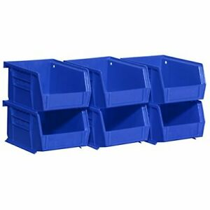 08212BLUE 30210 AkroBins Plastic Storage Bin Hanging Stacking Containers 5Inch