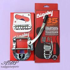 BIGSBY B5 FENDER LogoTELE Conversion KIT BRIDGE 6xSaddles Pickup PLATE CHROME