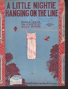 Little Nightie Hanging on the Line 1926 Sheet Music