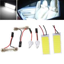 2x HID Bright 36 COB LED Panel Light For Car Auto Interior Dome White Lamp