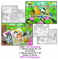 The Art of SunsOut Amy Rosenberg Coloring Page/Puzzle Set Brand New Made USA