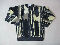 VINTAGE Coogi Sweater Adult Medium Black Brown Biggie MacGregor Cosby Mens 90s