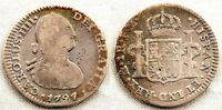 Spain-Carlos IV. 1 Real 1797. Mexico. Plata 3,2 g. Bonita
