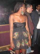 £145 LIPSY VINTAGE VIP BLACK FAN PLEATED RUFFLE FLAPPER 20S GATSBY DRESS 8 4 36