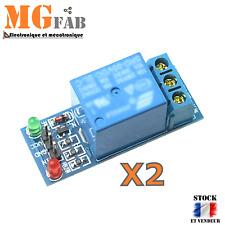2PCS Module 1 relais 5Vdc contact 1 RT 250VAC 10A   ARDUINO DIY ESP PIC PI 5V