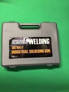 Chicago Electric 180 Watt Industrial Soldering Welding Gun With Case Tested